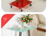 Tavolino da salotto di vetro del blocco per grafici del metallo