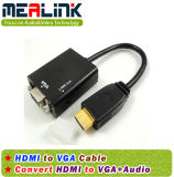 Konvertierungs-Kabel HDMI zu VGA (mit Audio)