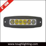 6 인치 18W 크리 사람 Offroad 트럭 홍조 마운트 LED 일 빛