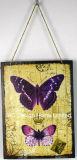 Design de borboletas a impressão de metal da placa Decoração de parede