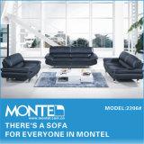 Sofá seccional, sofá de couro, mobiliário moderno (2206#)