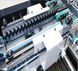 Großer Geschenk-Kasten und gewölbter Karton, die Maschine (GK-1450AC) sich faltet, klebend