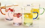 食糧テスト高品質に耐熱性ホウケイ酸塩ガラスのティーカップを渡しなさい