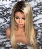 Parrucca diritta di vendita calda dei capelli umani di stile del merletto pieno biondo 613 per le donne con i capelli del bambino