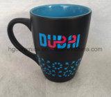 14oz de Mok van de koffie, Rubber voelt de Mok van de Deklaag met de Druk van het Overdrukplaatje