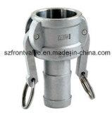 Came de Aço Inoxidável Microfusão Lock-Type C Haste da mangueira do acoplador
