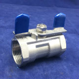 1/2 & rdquor; BSPT Thread Butterfly Handle 1 Piece Ball Valve