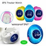 Relógio esperto do perseguidor do GPS dos miúdos impermeáveis com posição tempo real D11