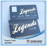 Impressão Offset Cr80 de plástico de tamanho de cartão de visita em PVC