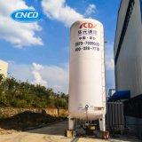 液体のアルゴンのガスによって冷やされている液体のアルゴンタンク