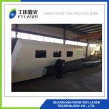 2000W fibras metálicas proteção total CNC corte a laser 4020