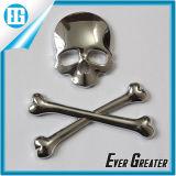 Insigne de logo 3D en ossature en métal Skull Demon