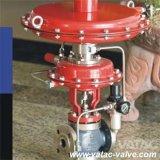 De pneumatische In werking gestelde Klep van de Controle van de Bol met Van een flens voorzien Einden