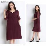 Свободное вскользь платье 100% шикарных женщин Silk