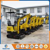 中国販売のためのマイクロ掘る機械800kg /0.8tonクローラー小型掘削機