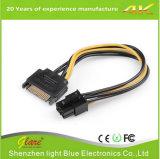 SATA 15pin mâle à 6 broches du câble d'alimentation de la carte graphique PCI