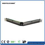 FTP панели для монтажа в стойку 1u под углом 24 портов CAT6 коммутационной панели