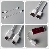 Um cabo Male to Micro USB para Samsung / HTC