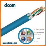 Una LAN Ethernet CAT6 cable 23AWG de cobre de pares de cables de comunicación de 4 de torsión