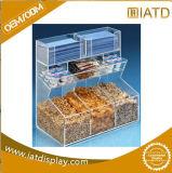 Conteneur acrylique d'étalage de Backery de nourriture de sucrerie de plexiglass clair