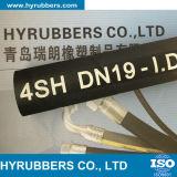 Manguito hidráulico 4sp/4sh de la trenza de alta presión negra del alambre