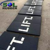 Высокая плотность коммерческих Crossfit спортивный зал резиновый пол керамическая плитка