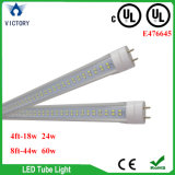 UL UL 3 년을%s 가진 승인되는 LED 가벼운 관 T8 8FT 정착물 보장 Lm80 100-277V