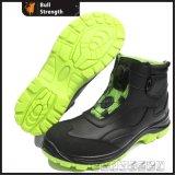 Chaussure de sûreté en cuir lisse de type de sport avec la boucle de spire (SN5430)