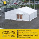백색 PVC 지붕 덮개 & 유리벽 (HAF 20M)를 가진 프레임 알루미늄 천막
