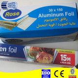 Rolo de folha de alumínio de cozinha para alimentos