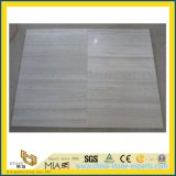 White Wood Grain Polishing Marble for Kitchen/Bathroom Wall & Floor Tiles