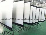 販売の安い価格のための携帯用プロジェクタースクリーンの三脚の立場