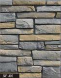 Rebord de la conception de la maçonnerie de pierre sur le terrain pour Villa revêtement mural (panneau mural)