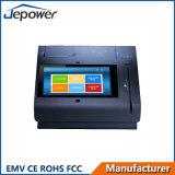 Posição do monitor do écran sensível de TFT LCD com indicador do cliente e a impressora térmica