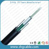 2-12 섬유 Unitube 옥외 광학 섬유 케이블 (GYXTW)