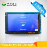 7 visualización de Lvds TFT LCD de la pantalla táctil del panel del LCD de la pulgada