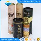 カスタム多彩なペーパー円形の管のワインのギフト用の箱