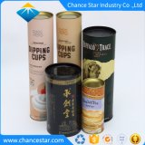 Papel colorido personalizado tubo redondo de caixas de vinho