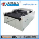máquina de estaca do laser do CO2 da aplicação da estaca de matéria têxtil do laser 110W