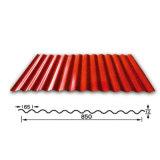 Los materiales de construcción de la pintura de color de la placa de acero galvanizado de hoja de techos de cartón ondulado