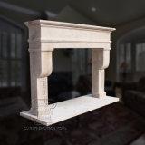 Camino di marmo di Travertin nel disegno francese di stile