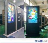 LCDのトーテムかデジタル表記のキオスクを回す47inchタッチ画面