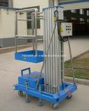 Hydraulische gemakkelijk stelt de mobiele luchtlift van de aluminiumlegering in werking