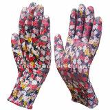 13G PU покрытием нейлон цвета гильзы PU перчатки