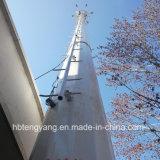 يغلفن وحيد أنابيب اتّصالات يقف فولاذ مجّانا برج