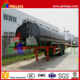 Depósito de asfalto calefacción semi remolque cisterna betún