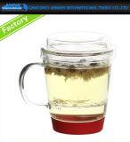 taza de cristal toda junta del té 260ml con el filtro y la tapa integrados