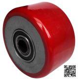unité centrale rouge de 100X75mm sur la roue lourde de faisceau de fer