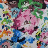 Blume gedruckte Eidechse-Haut synthetische Beutel TexturpU ahmen Leder nach