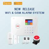 Sistema di allarme senza fili di GSM WiFi con la tastiera di tocco (ES-G66W)